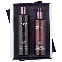 Buy ESPA Bergamot & Jasmine Foam Bath and Lotion Set Online at johnlewis.com