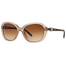 Buy Tiffany & Co TF4108B Oval Sunglasses, Tortoise Online at johnlewis.com