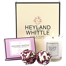 Buy Heyland & Whittle Candle, Bath Bomb and Soap Set, Rose Online at johnlewis.com