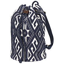 Buy Fat Face Aztec Woven Rucksack, Navy Online at johnlewis.com