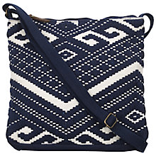Buy Fat Face Aztec Woven Cross Body Bag, Navy Online at johnlewis.com