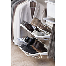 Buy Elfa 60cm Gliding Double Shoe Rack Online at johnlewis.com