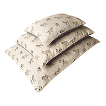 Buy Mutts & Hounds Dog Print Pillow Bed, Large Online at johnlewis.com
