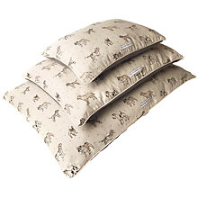 Buy Mutts & Hounds Dog Print Pillow Bed, Medium Online at johnlewis.com