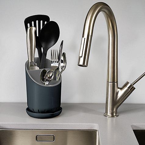 buy joseph joseph dock cutlery drainer john lewis. Black Bedroom Furniture Sets. Home Design Ideas