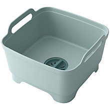Buy Joseph Joseph Wash & Drain Washing-Up Bowl, Pastel Blue Online at johnlewis.com