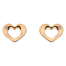 Buy Hot Diamonds Open Heart Sterling Silver Diamond Earrings Online at johnlewis.com