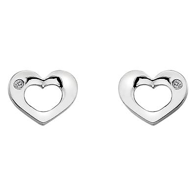 Hot Diamonds Open Heart Sterling Silver Diamond Earrings
