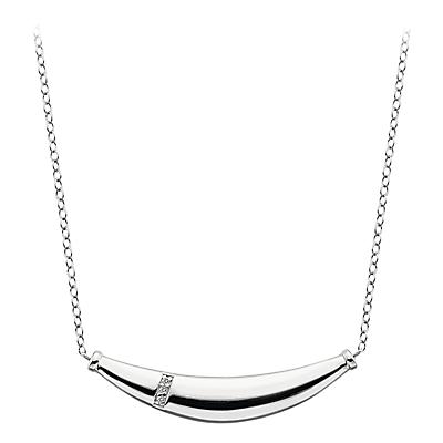 Hot Diamonds Grace Sterling Silver Pendant Necklace, Silver