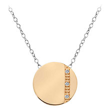 Buy Hot Diamonds Enlighten Sterling Silver Crystal Pendant Necklace Online at johnlewis.com