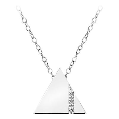 Hot Diamonds Impulse Sterling Silver Diamond Pendant Necklace, Silver