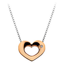 Buy Hot Diamonds Open Heart Sterling Silver Diamond Pendant Necklace Online at johnlewis.com
