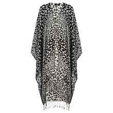Buy Oasis Lightweight Animal Print Wrap, Black/Multi Online at johnlewis.com