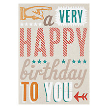 Buy Velvet Olive A Very Happy Birthday Card Online at johnlewis.com