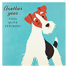 Buy Pigment Fetching Fox Terrier Birthday Card Online at johnlewis.com