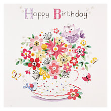 Buy Mint Floral Birthday Card Online at johnlewis.com