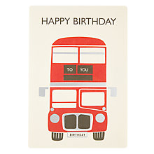 Buy James Ellis Stevens London Bus Birthday Card Online at johnlewis.com
