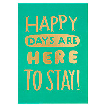 Buy Lagom Designs Happy Days Birthday Card Online at johnlewis.com