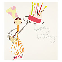 Buy Caroline Gardner Whisk Happy Birthday Card Online at johnlewis.com