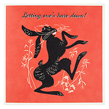 Buy Pigment Letting One's Hare Down Birthday Card Online at johnlewis.com