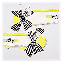 Buy Black Olive Stripy Bows Birthday Card Online at johnlewis.com
