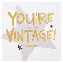 Buy Hotch Potch You're Vintage Birthday Card Online at johnlewis.com