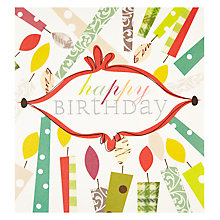 Buy Caroline Gardner Candle Happy Birthday Card Online at johnlewis.com