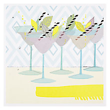 Buy Black Olive Drinks Party Birthday Card Online at johnlewis.com