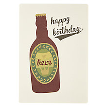 Buy James Ellis Stevens Beer Birthday Card Online at johnlewis.com