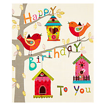 Buy Paperhouse Bird Houses Birthday Card Online at johnlewis.com