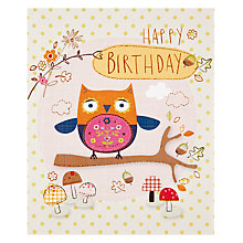 Buy Paperhouse Owl Happy Birthday Card Online at johnlewis.com