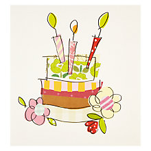 Buy Caroline Gardner Cake Birthday Card Online at johnlewis.com