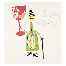 Buy Caroline Gardner Wine Happy Birthday Card Online at johnlewis.com