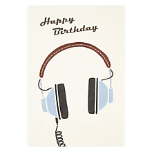 Buy James Ellis Stevens Headphones Birthday Card Online at johnlewis.com