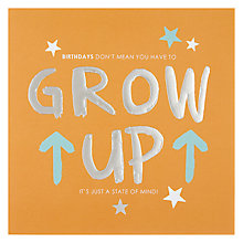 Buy Hotchpotch Grow Up Birthday Card Online at johnlewis.com
