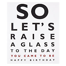Buy Portfolio Raise A Glass Birthday Card Online at johnlewis.com