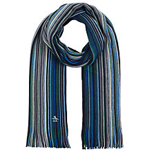 Buy Original Penguin Stripe Merino Scarf Online at johnlewis.com