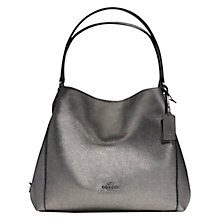 Buy Coach Edie Leather Shoulder Bag, Gunmetal Online at johnlewis.com