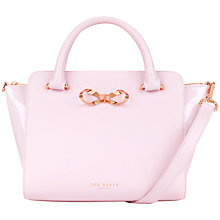 Buy Ted Baker Paiton Bow Leather Tote Bag, Pale Pink Online at johnlewis.com