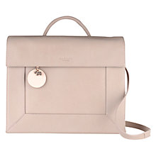Buy Radley Border Large Flapover Bag, Natural Online at johnlewis.com