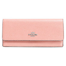 Buy Coach Soft Leather Wallet, Blush Online at johnlewis.com