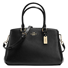 Buy Coach Empire Leather Shoulder Bag, Black Online at johnlewis.com