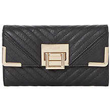 Buy Dune Kourtney Quilted Detail Flap Over Purse, Black Online at johnlewis.com