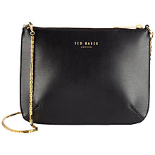 Buy Ted Baker Harley Leather Crosshatch Cross Body Bag, Black Online at johnlewis.com