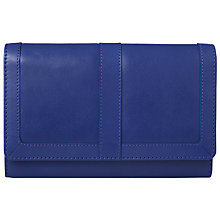Buy John Lewis Emma Leather Extra Large Flapover Purse, Blue Online at johnlewis.com