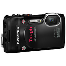 "Buy Olympus Stylus Tough TG-850 Waterproof, Freezeproof, Shock/ Crushproof Digital Compact Camera, HD 1080p, 16MP, 5x Optical Zoom, Wi-Fi, 3"" Tilting LCD Screen Online at johnlewis.com"