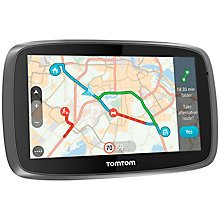 Buy TomTom GO 5100 Sat Nav with Lifetime World Maps and Unlimited Data & Roaming, UK & Republic of Ireland Online at johnlewis.com