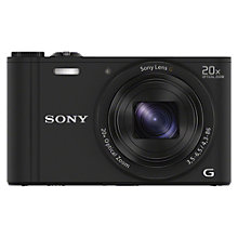 "Buy Sony Cyber-Shot WX350 Compact Camera, HD 1080p, 18.2MP, 20x Optical Zoom, Wi-Fi, NFC, 3"" LCD Screen Online at johnlewis.com"