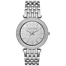 Buy Michael Kors MK3404 Women's Darci Stainless Steel Bracelet Strap Watch, Silver Online at johnlewis.com