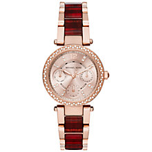 Buy Michael Kors MK6239 Women's Mini Parker Stainless Steel Bracelet Strap Watch, Rose Gold/Merlot Online at johnlewis.com